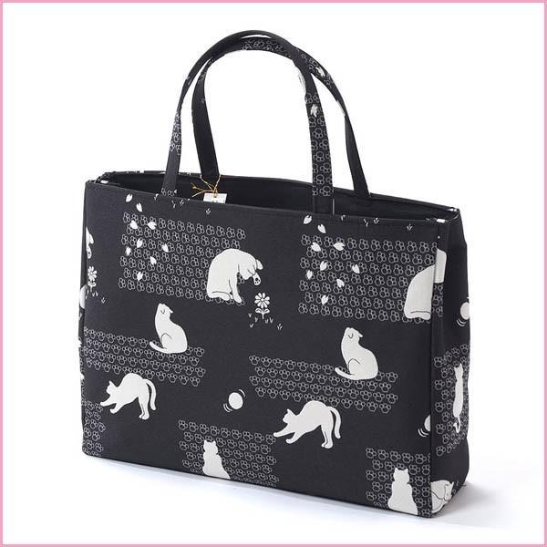 母の日 プレゼント 和装バッグ カジュアル サブバッグ 大きめ ねこ 日本製