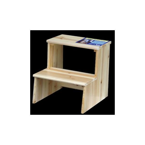 IPC 木製塗装踏み台 2段 W415*D465*H410