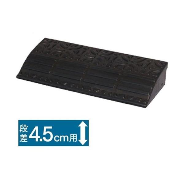 アイリスオーヤマ ゴム段差プレート ブラック GDP-4560  【お一人様6点限り】