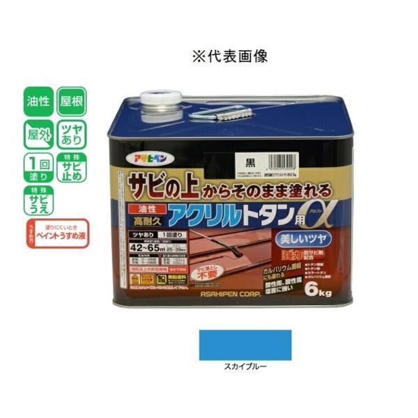 アサヒペン 油性高耐久アクリルトタン用α  スカイブルー 6kg