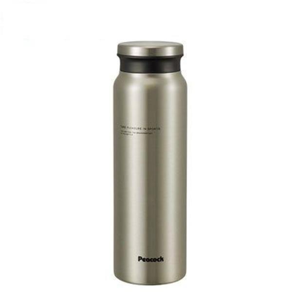 ピーコックPeacock 【保温・保冷】牛乳瓶型直飲みスクリューマグ(800ml/0.8L) [AMZ-80-XA/ステンレス]