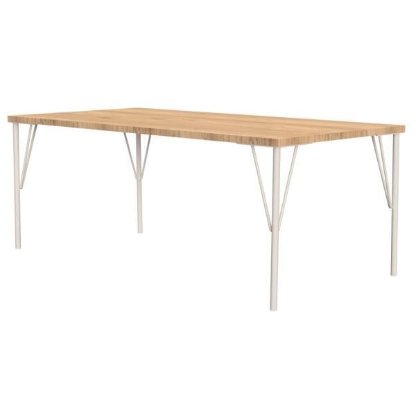 平安伸銅 Weekend Workshop  スチールローテーブル脚 高さ37.5cm 【1本売り】 WTW-2 白