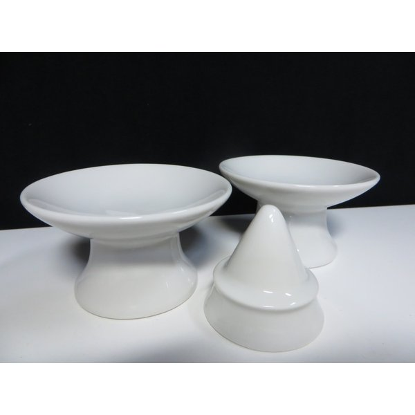 国産 神棚 陶器 ■ 盛塩セット ■ 塩盛器 & 高杯 ■ 2.5寸