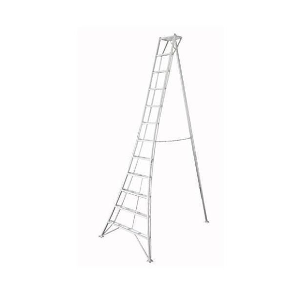 長谷川工業 アルミ三脚脚立 グリーンステップ GSC-330T 天板高さ 3.31m/有効高さ 2.41m|yamakura110|02