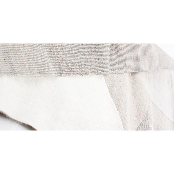 生地 芯地 造り毛芯 メンズコート用軽量加工毛芯 ダブル用 生成 EX2000コート用-ダブル|yamamoto-excy|04