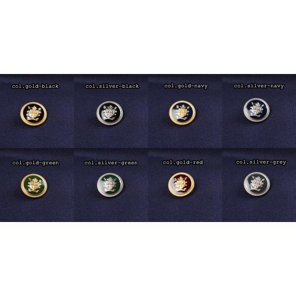 メタルボタン 1個から対応 スーツ・ジャケット向け 真鍮素材の高級品 ブレザーボタン-15mm 8色展開 EX202シリーズ|yamamoto-excy|03