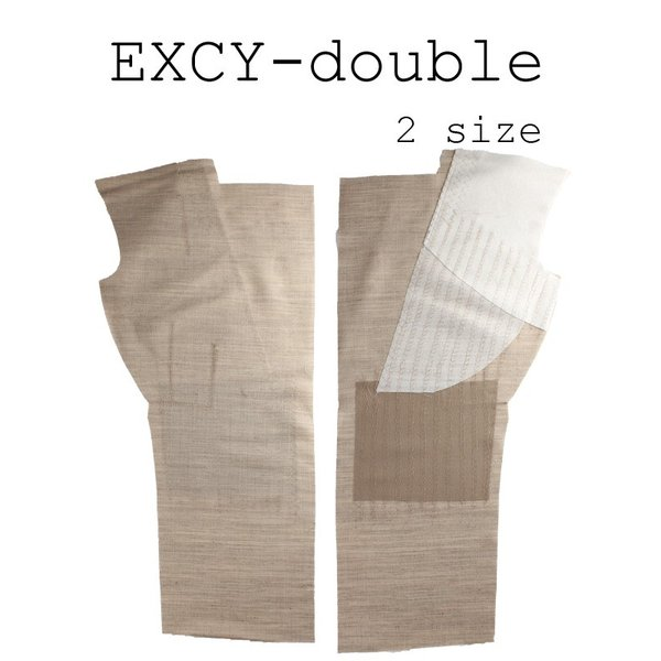 生地 芯地 造り毛芯 メンズジャケット用加工毛芯 ダブル用 2サイズ展開 生成 EXCY-ダブル|yamamoto-excy