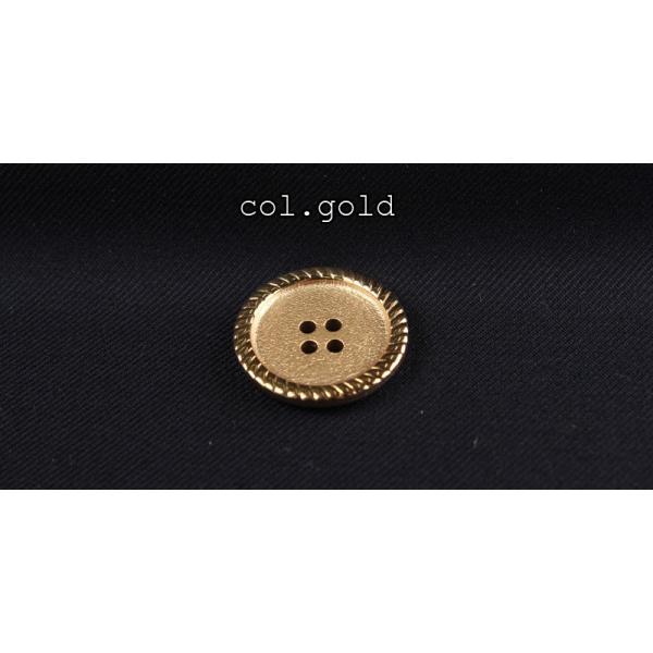 ボタン 高品質 最高級金ボタン-15mm ゴールド (金ボタン)|yamamoto-excy|03