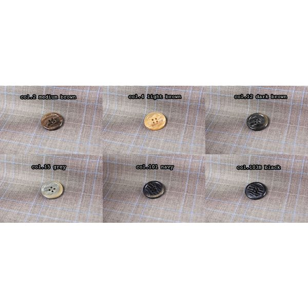 ボタン 高品質 イタリア製ポリエステルボタン-20mm 6色展開 (M-55)|yamamoto-excy|03