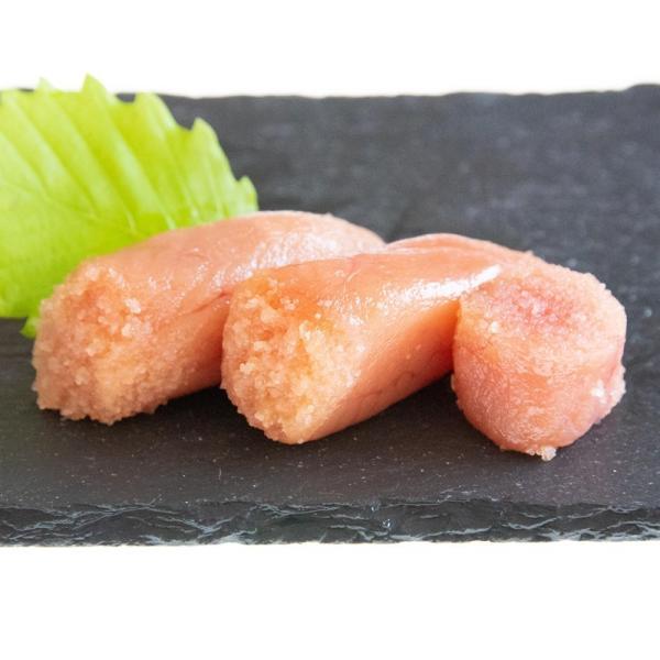 たらこ醤油漬無着色 切れ子 300g×6個セット 送料無料|yamamoto-foods|02