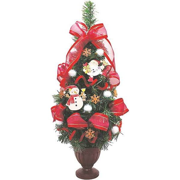 テーブルツリー サンタ&スノーマン 40cm ペッパー付【クリスマスツリー 電球付き】【卓上ツリー】