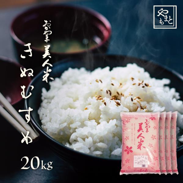 新米 お米 安い 29年度岡山県産 食味ランキング特A きぬむすめ 20kg 5kg×4袋 送料無料 お米 キヌムスメ 20キロ 一等米|yamamotoyasuosaketen