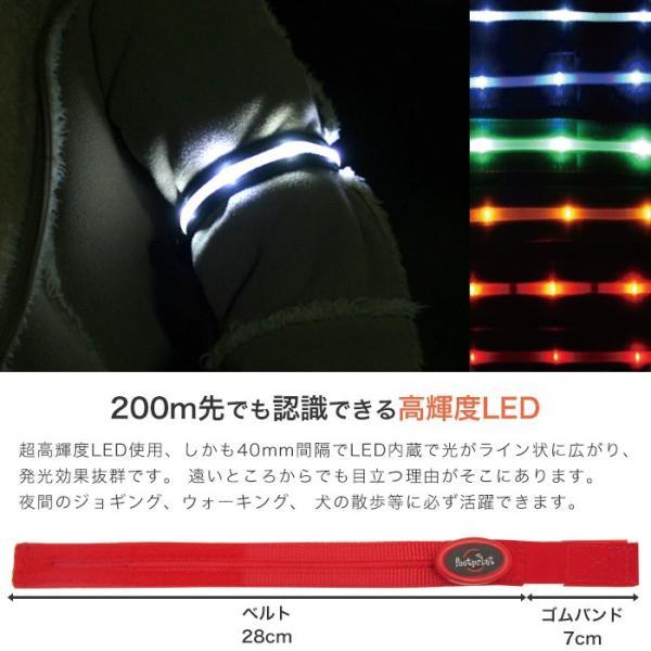 LED腕章 きらきら光るアームバンド ブルー ボタン電池交換式散歩/夜/歩き/ウォーキング/ジョギング yamanaka-inc 02