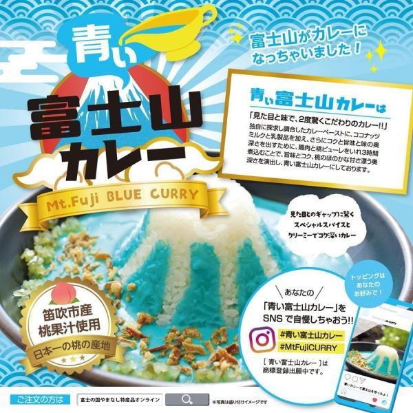 ご当地カレー レトルト セット 富士山カレー赤・青セット(赤x3, 青x3)桃果汁 ココナツミルク 産地直送|yamanashi-online|02