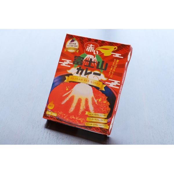 ご当地カレー レトルト セット 富士山カレー赤・青セット(赤x3, 青x3)桃果汁 ココナツミルク 産地直送|yamanashi-online|08