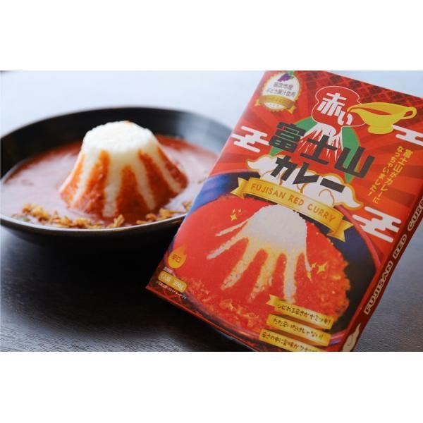 ご当地カレー レトルト セット 富士山カレー赤・青セット(赤x3, 青x3)桃果汁 ココナツミルク 産地直送|yamanashi-online|09