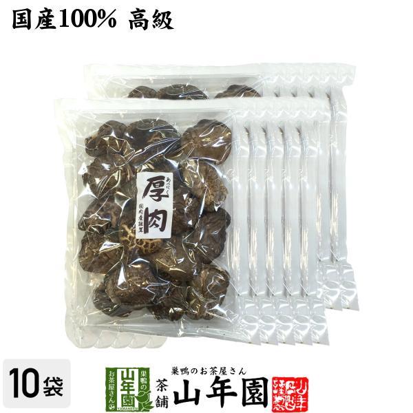 干ししいたけ 厚肉 120g×10袋セット 高級 国産 鍋 なべ 野菜 送料無料