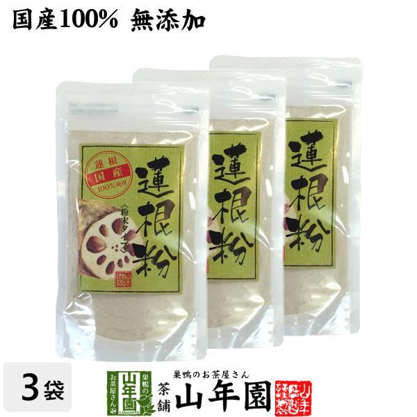 健康食品 蓮根粉 100g×3袋セット 国産 無添加 れんこん粉 レンコンパウダー 蓮根粉末 送料無料
