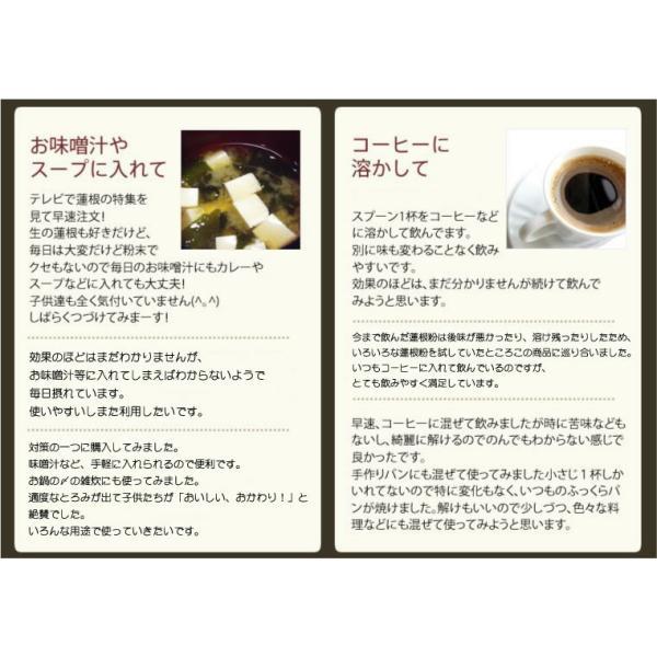 蓮根粉 100g×3袋セット 国産 無添加 れんこん粉 レンコンパウダー 蓮根粉末 送料無料 お茶 母の日 父の日ギフト プレゼント 内祝い お返し 2019 Winter gift|yamaneen|06