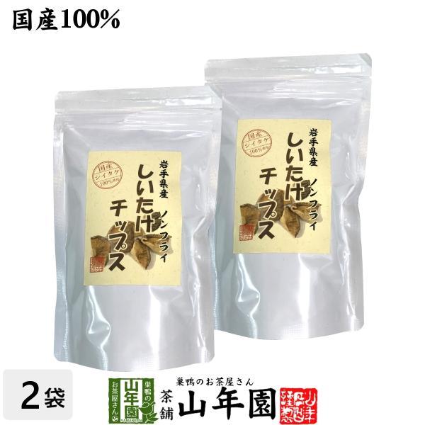 健康食品 国産 しいたけチップス 30g×2袋セット 送料無料