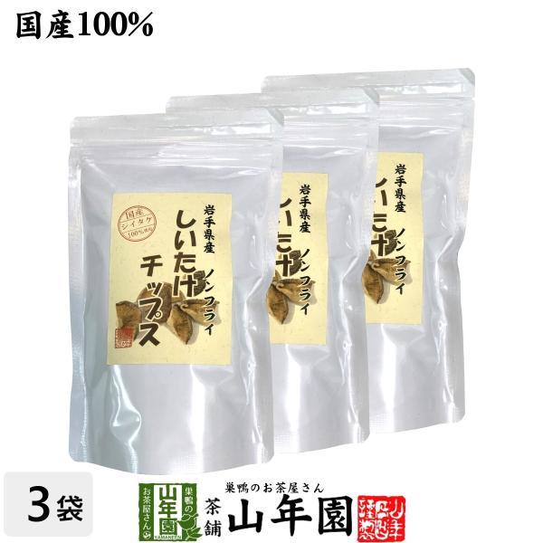 健康食品 国産 しいたけチップス 30g×3袋セット 送料無料