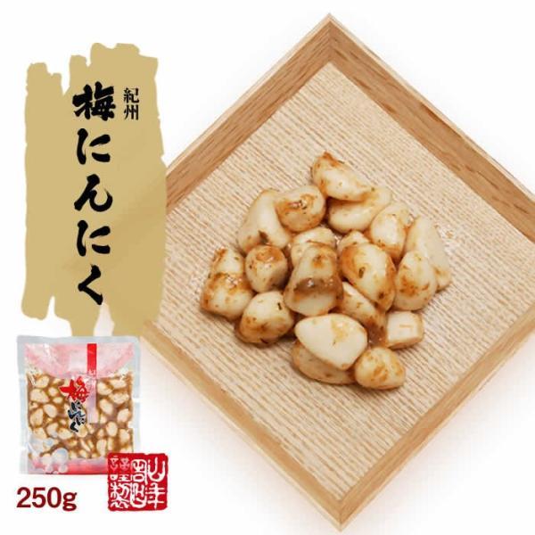健康食品 梅にんにく 紀州 250g 梅ニンニク ご飯のお供 徳用 贈答 和歌山 送料無料|yamaneen|02