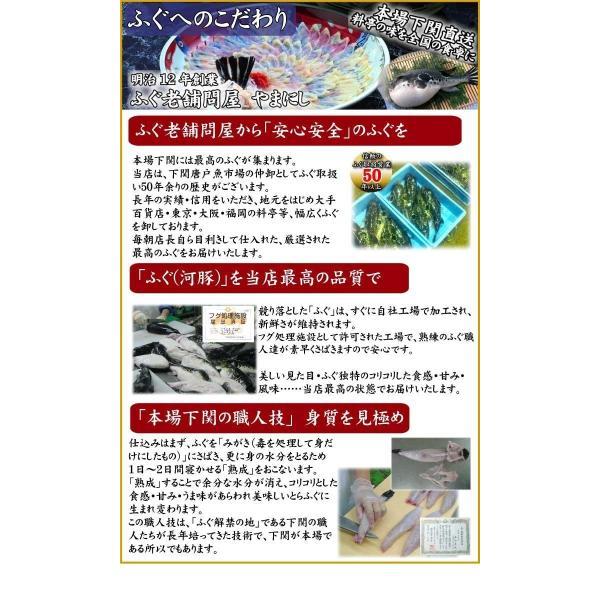 とらふぐ_トラフグ 送料無料 父の日  とらふぐ料理フルコース6-7人前・34cm青磁皿  下関 鍋 てっちり ふぐ鍋 セット yamanishisuisan 05