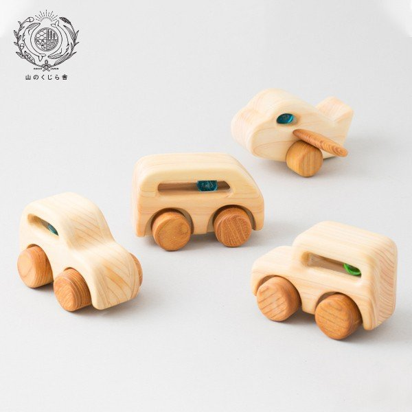 木のおもちゃ ブーブー&ひこうき(4種)