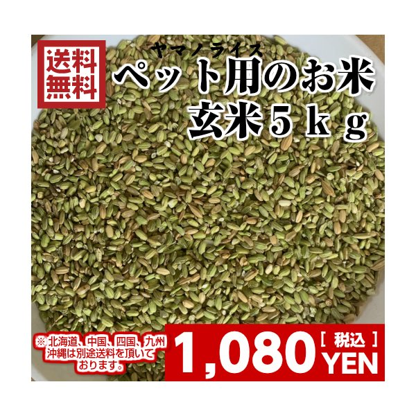 米5kg「ペット用玄米5kg」くず米