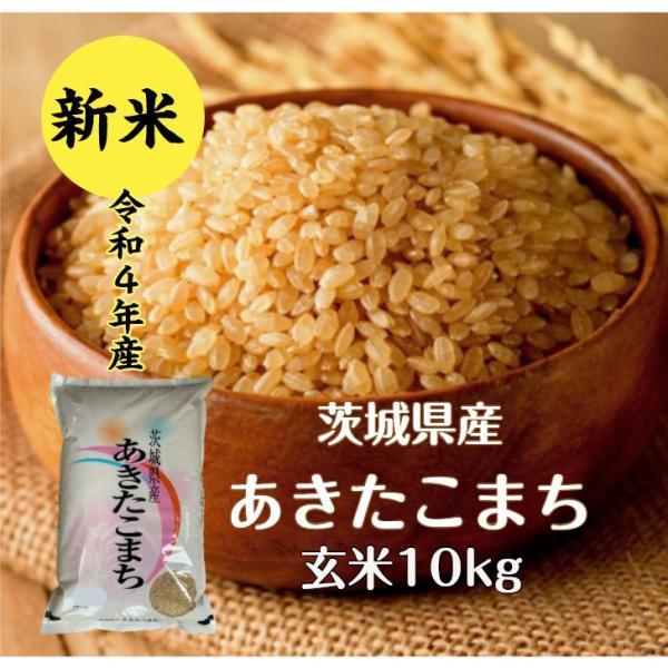 玄米 10kg「令和3年茨城産あきたこまち 一等米 玄米 10kg」送料無料