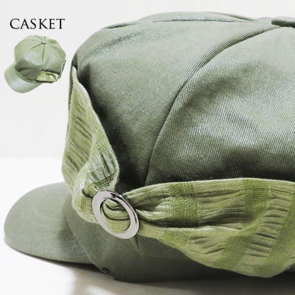キャスケット帽帽子レディースキャスケットレディースリボン可愛い夏オシャレファッション