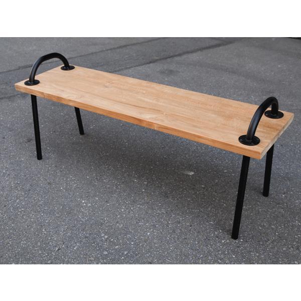 ガーデンベンチ グリップベンチ チーク材 ベンチ チェア 受注生産品 送料無料