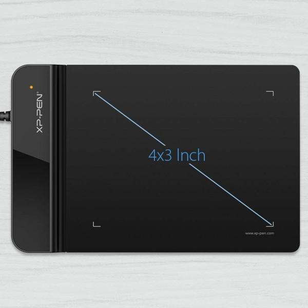 XP-Pen ペンタブレット ペンタブ 4 * 3インチ 2mm厚さ 8192レベル筆圧 イラスト入門用 OSUゲーム用 黒 StarG43|yamatomatoya