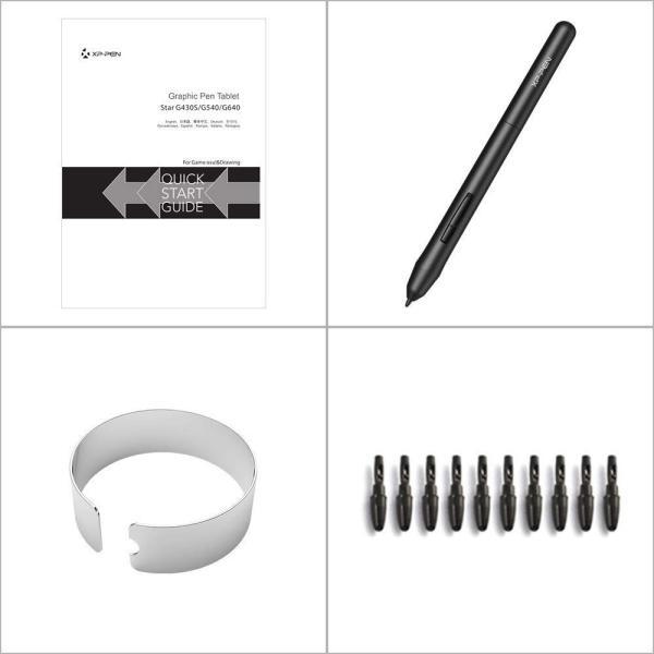 XP-Pen ペンタブレット ペンタブ 4 * 3インチ 2mm厚さ 8192レベル筆圧 イラスト入門用 OSUゲーム用 黒 StarG43|yamatomatoya|03