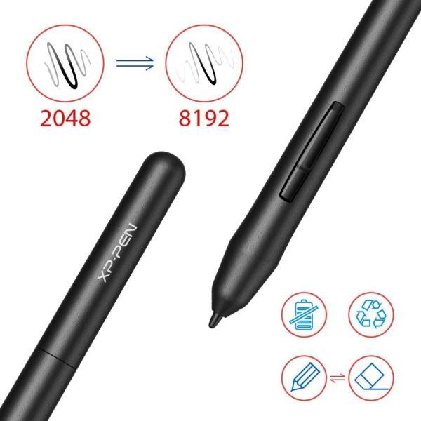 XP-Pen ペンタブレット ペンタブ 4 * 3インチ 2mm厚さ 8192レベル筆圧 イラスト入門用 OSUゲーム用 黒 StarG43|yamatomatoya|05