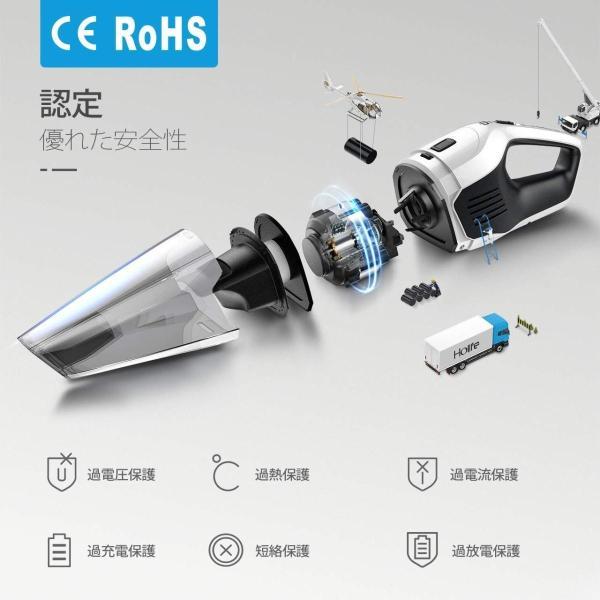 Holife ハンディクリーナー 掃除機 コードレス 車用掃除機 カークリーナー 充電式 乾湿両用 6Kpa 超強吸引力 90w 約30分間