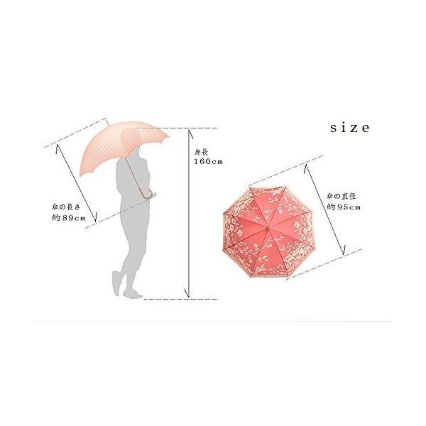 高級甲州織 レディース 雨傘 長傘「kirie」バラ(ローズ)日本製 高級傘 槇田商店