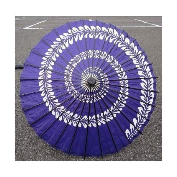 和傘 踊り傘 藤うず巻青(装飾用)