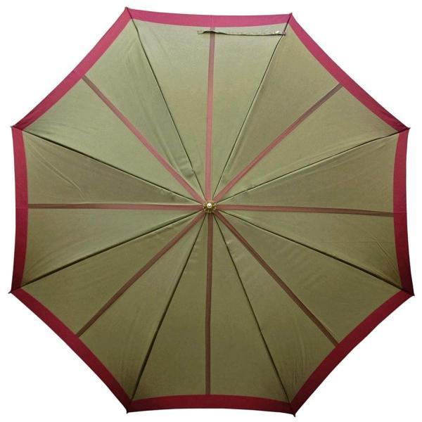 NOBEL(ノーベル) レディース 雨傘 長傘 日本製 甲州産先染め生地使用 中ボーダー柄 おしゃれ スタイリッシュ (ベージュ)