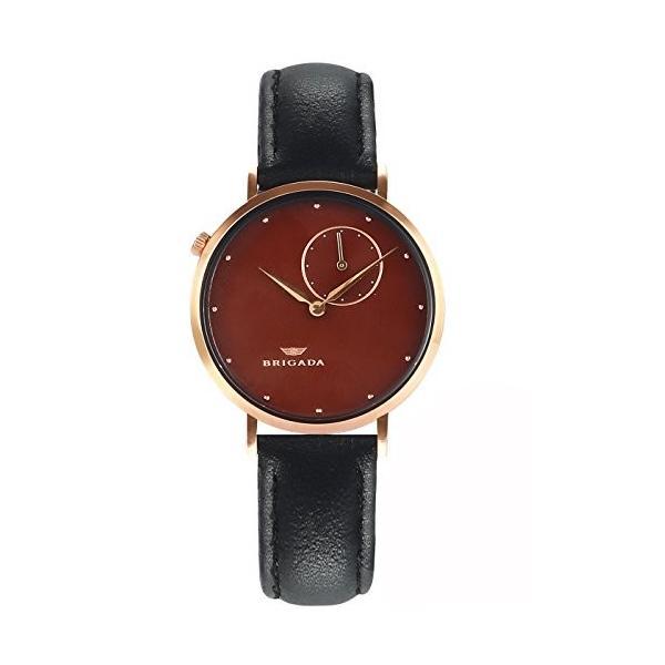 BRIGADA 高級 薄い 時計 レディース ブランド 人気、ブラウン 可愛い ファッション 腕時計 レディース ブランド 人気、自分用もし
