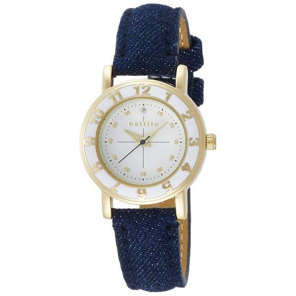 フィールドワークFieldwork 腕時計 ファッションウォッチ nattito セサミ 革ベルト デニム地 ブルー QKS079-10 レ