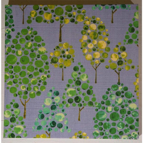 シルワ ファブリックパネル 40×40×2.5cm 単品 グレーgray 木 おしゃれ インテリア 植物柄 北欧 アリス ファブリックボード