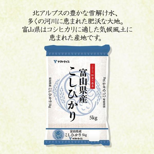 コシヒカリ 米 10kg 5kg×2袋 お米 白米 富山県産 うるち米 精白米 ごはん yamatorice 02
