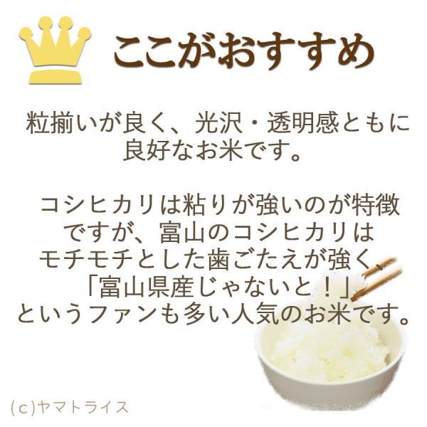 新米 コシヒカリ 米 10kg 5kg×2袋 お米 白米 富山県産 うるち米 精白米 ごはん|yamatorice|06