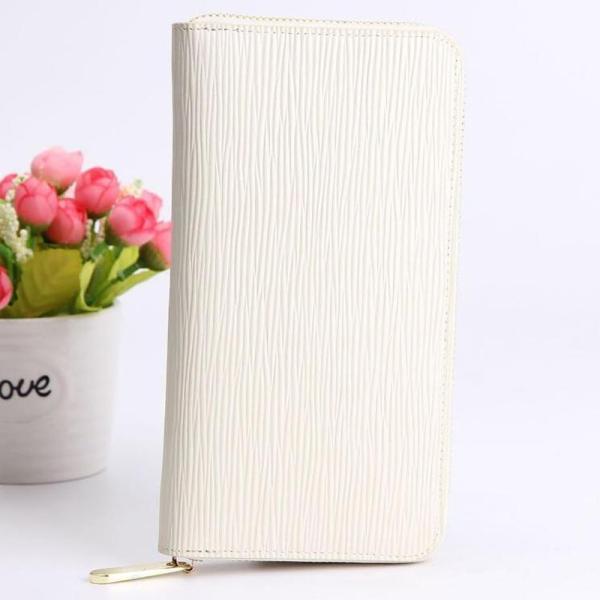 長財布ホワイト白色レディースメンズ牛革革レザー財布ロングウォレットラウンドファスナーおしゃれかわいいシンプル使いやすいおすすめ
