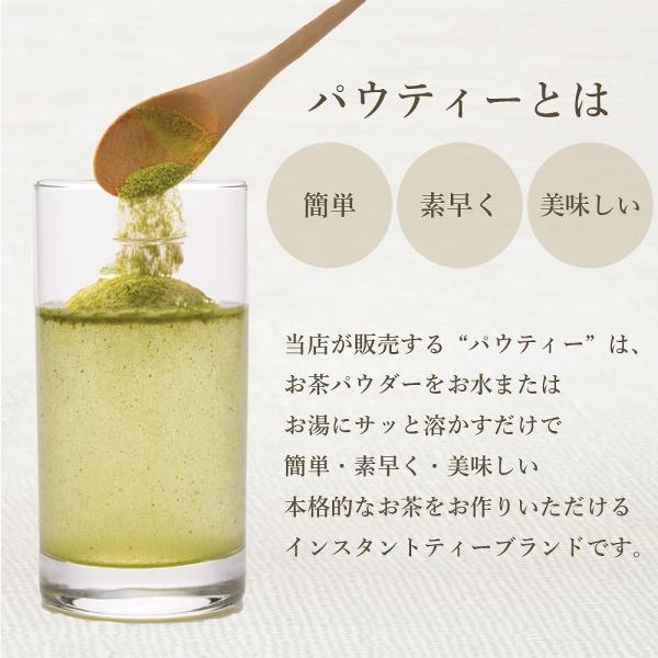 パウティー 業務用 【抹茶入り緑茶 1kg】  インスタントティー・粉茶・粉末茶・パウダー茶|yanagiya-charaku|02