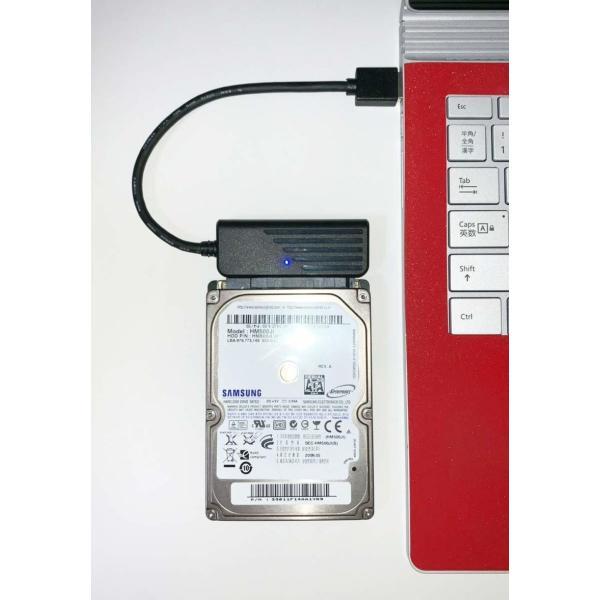 sata usb 変換ケーブル 2.5インチ HDD SSD など アクセスランプ有り 長さ16cm