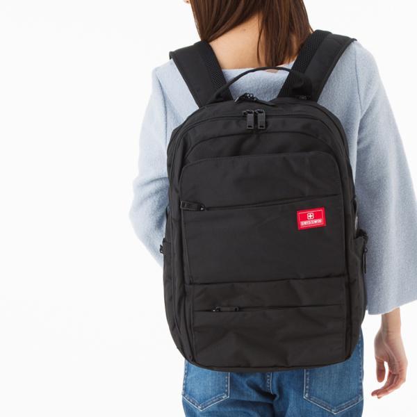 SWISSWIN バックパック スクエアリュック リュックサック メンズ ビジネス バック 鞄 レディース 高校生 通勤 通学 大容量 PC用バック A4 撥水 キャリーオン yandk 11