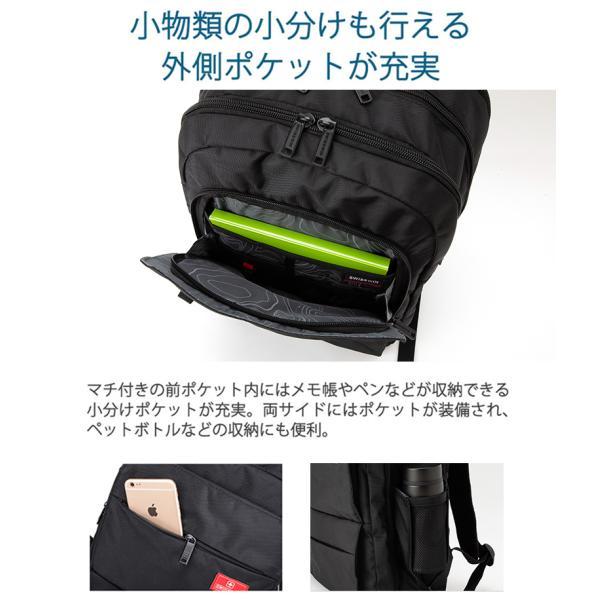 dda39d4232a2 ... SWISSWIN スクエアリュック メンズバッグ リュックサック 通勤 通学 PC B4 撥水 鞄 カバン カジュアル