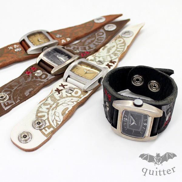 時計 腕時計 レザー ユニセックス ハンドメイド ギフト 栃木レザー 日本製 レザーマルチボーダーパッチウォッチ|yandk